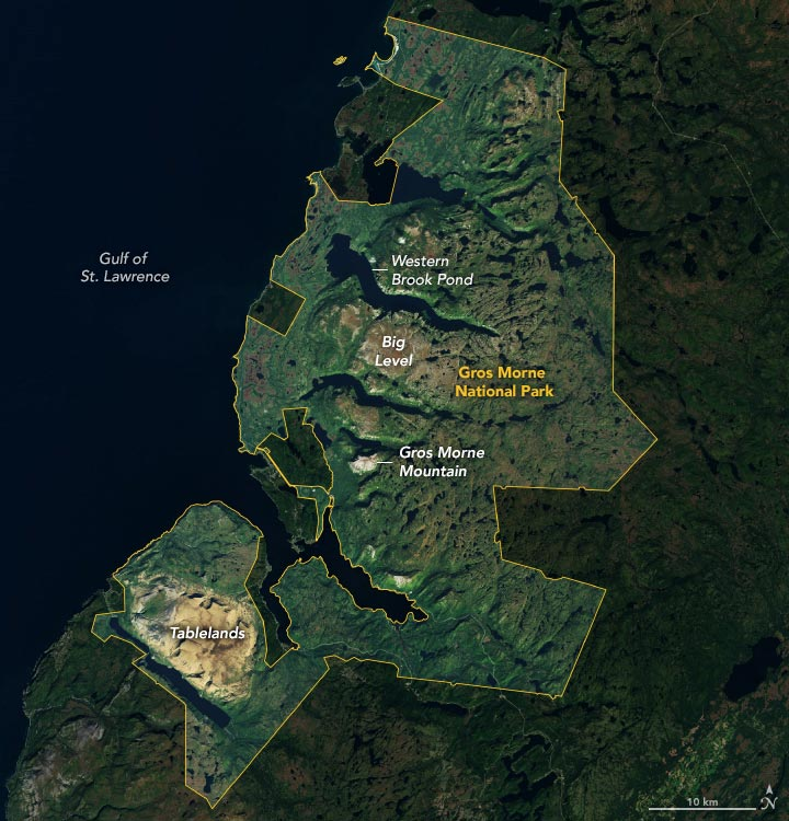 Gros Morne National Park Annotated